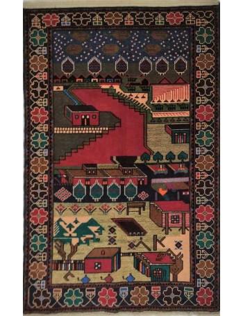 Handmade Baluch rug 135x93cm